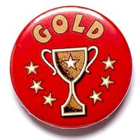 Gold Cup Button Badge</br>BA005